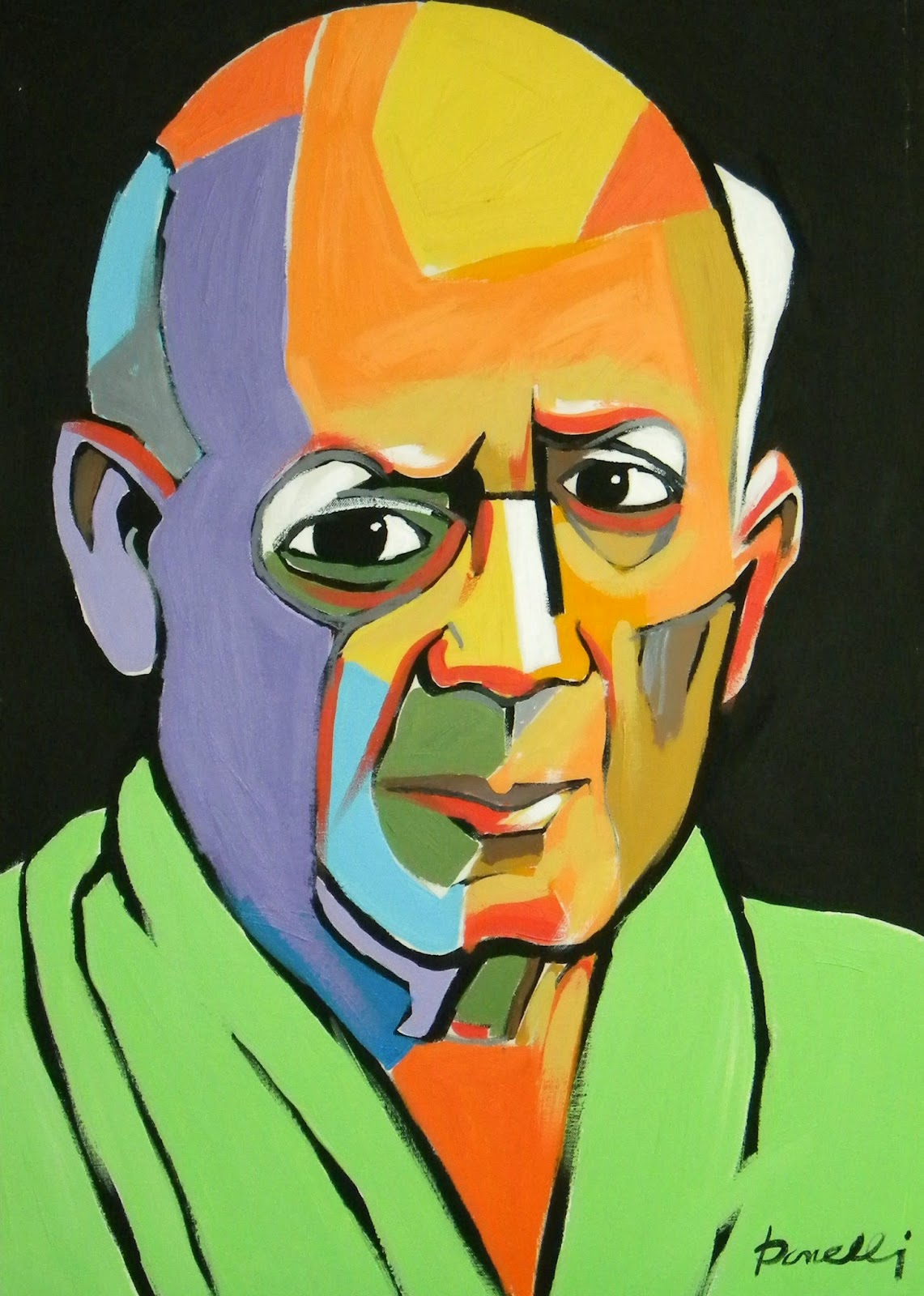 A self-portrait painting by Pablo Picasso