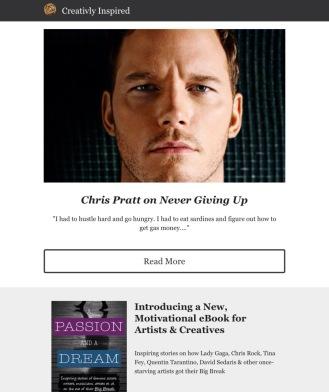 Creativly Inspired sample 1 featuring actor Chris Pratt