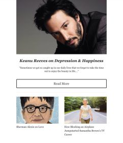 Creativly Inspired sample 3 featuring actor Keanu Reeves