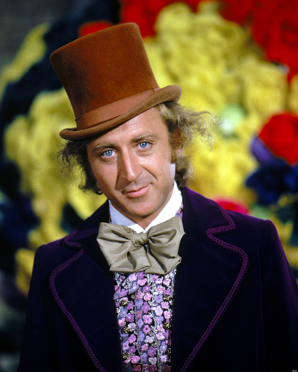 Gene Wild in the classic film, Willy Wonka & The Chocolate Factory