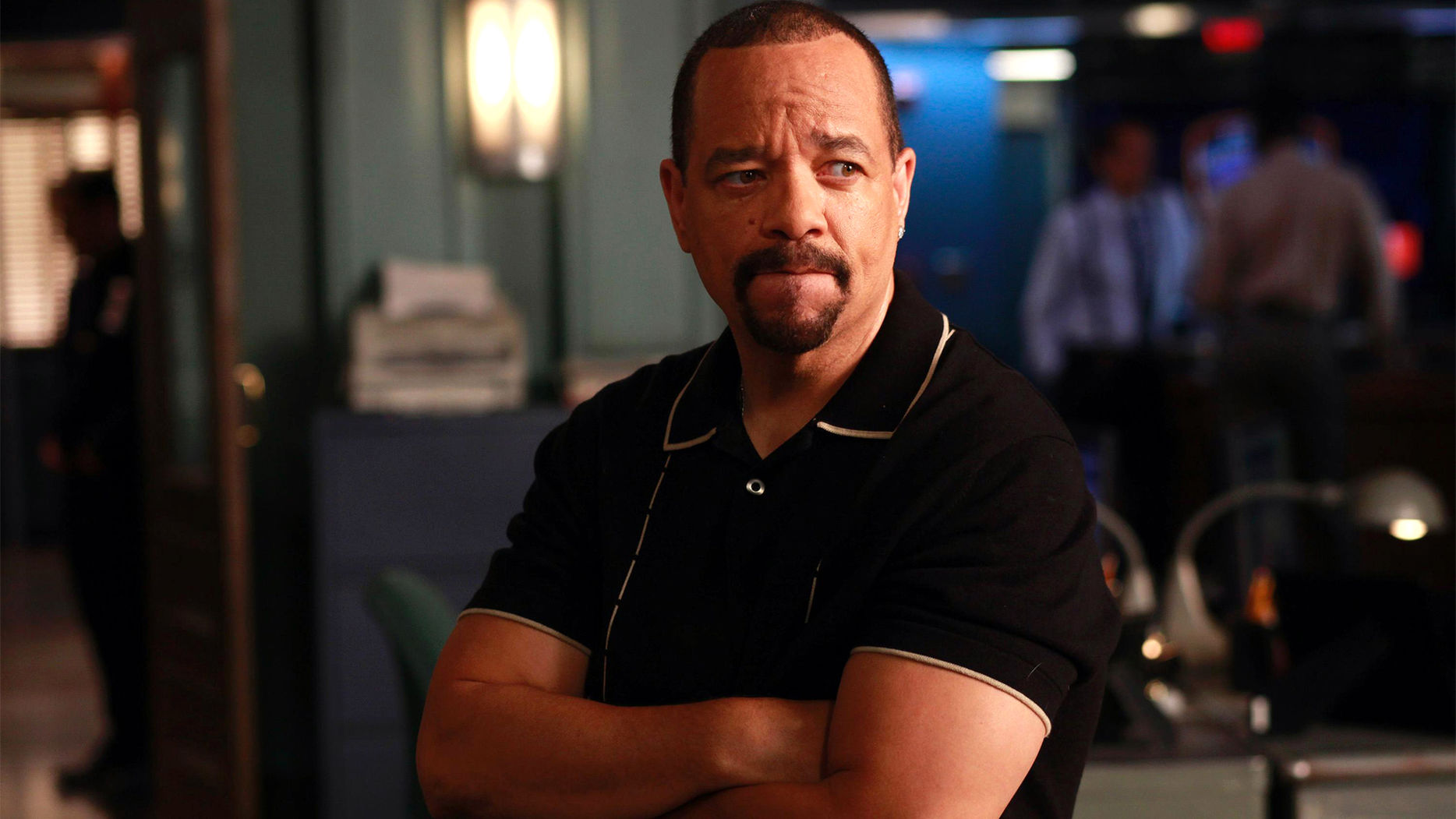 Ice-T in a scene on the show, Law & Order: SVU