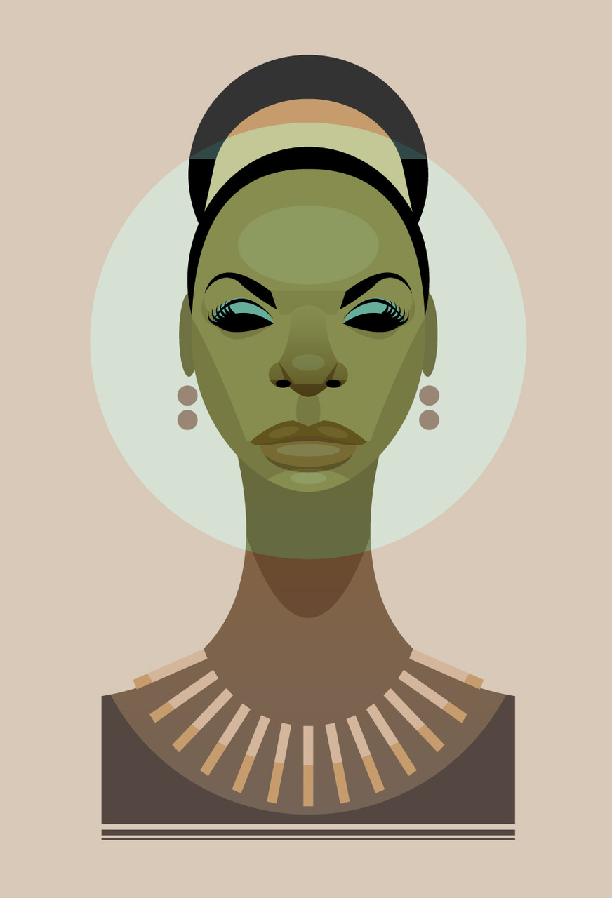 An illustration of Nina Simone